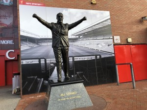 Shankly na entrada do Anfield