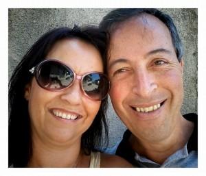 Shirlei e Paulo, em foto enviada para o Coroa Metade