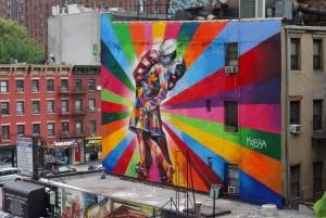 """""""O Beijo"""", na High Line, em Nova York"""