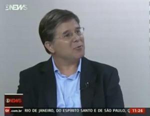 Airton Gontow, em entrevista para o Jornal da Dez, da Globo News