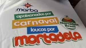 Camiseta da equipe do Mortadela Brasil para o Camarote Bar Brahma