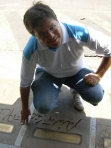 Airton Gontow, na Calçada da Fama antigo estádio Olímpico,  junto a  Airton Pavilhão