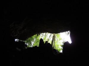 A saída das cavernas  é sempre um momento especial...- Crédito da foto: Karen. C. Nogueira.
